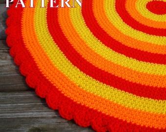 Rug Crochet Pattern Crochet Area Rug Pattern PDF Floor Round Rug Pattern Crochet Round Area Rug Crochet Rug Pattern Olga Andrew Designs 049