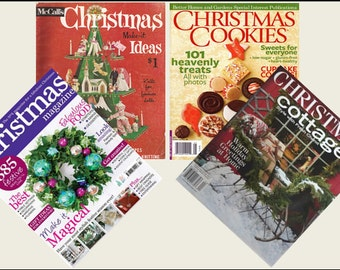4 Miniature  'CHRISTMAS'   Magazines  -  Dollhouse 1:6th  1/12th  1/24th  1/48th   scale