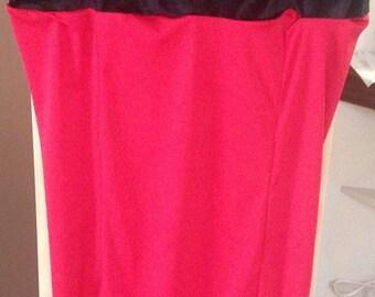 Black/Red Slim Dinner Dress