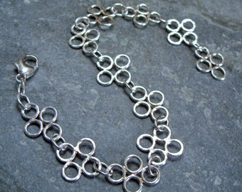 Sterling Silver 'Mounts Bay' Bracelet. Handmade Jewellery by Joel Martin of Cornwall