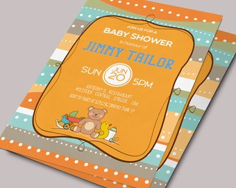 Baby Shower Invitation Printable, Baby Shower Invitation, Baby Shower Invite Custom