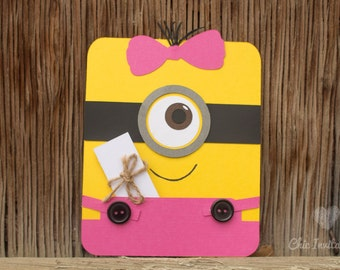 Minions Girl Birthday Party Invitation