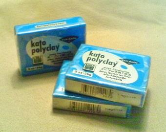 Kato polymer clay; 2oz. bar of 'turquoise' Kato polymer clay, 1-3/2.40-6.90.