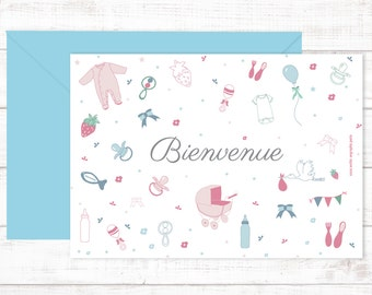 "Postcards  ""Bienvenue"""