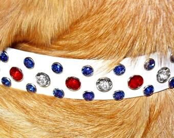 50% Discount, Swarovski Crystal Dog Collar, Discontinued, Crystal Bling Dog Collar, Comfy, Durable, Secure & Waterproof. Big Dog Bling