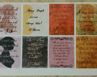 Jane Austen Quotes Full Box Half Sheet