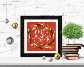 Merry Christmas Darling 8x8 Printable
