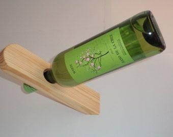 Pine wood wine holder
