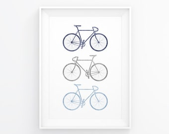 Bicycle Poster, Bike Art, Bike Print, Bicycle Art, Bicycle Print, Bike Wall Art, Bike Wall Decal, Neutral Art, Printable Bike, Cycling Art