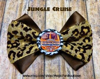 Jungle Cruise Disneyland Bow-Walt Disney World Bow-Disney Bow-Disney Hair Clip-Hair Bow-Disney Accessories-Disney Barrette-Jungle Cruise Bow