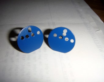 Nautical style earrings blue