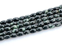 Chinese Blackish Green Jade Gemstone Seed Beads in Bulk Wholesale