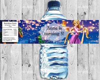Tangled, Rapunzel Bottle Label