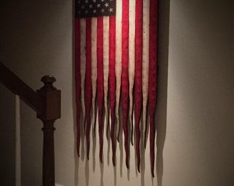 Large American Flag, American Flag Sign, Rustic American Flag, Vertical American Flag, Distressed American Flag, American Battle Flag