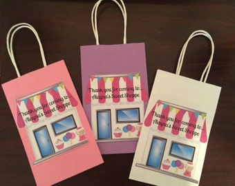 Sweet Shoppe Gift bags-(12) we can do any theme!