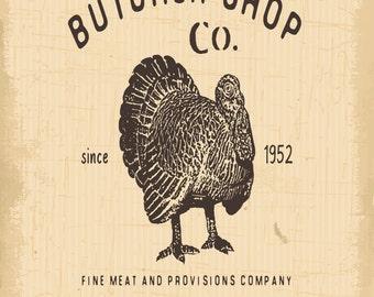 Butchers Shop, Turkey, Metal Sign,  No.636