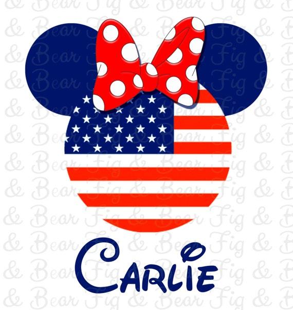 Items Similar To 4th Of July Disney World T Shirt Minnie