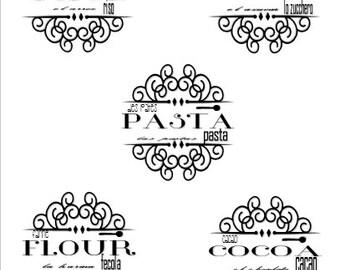Customizable Pantry Label Printable Vol. 1