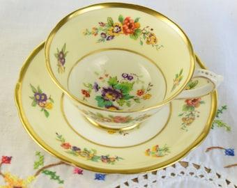 Floral Star Paragon tea cup and saucer