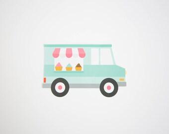 Ice Cream Van Cake Topper