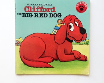 Clifford the Big Red Dog Vintage Paperback Book Norman Bridwell 80s book