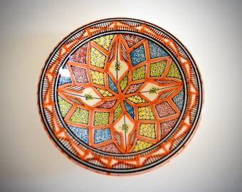 """Ceramic Bowl 7.5"""" (19cm) plate unique hand painted pattern"""