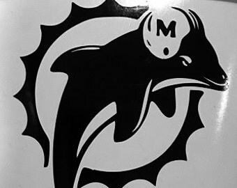 Miami Dolphins vinyl decal!  Available in ALL colors/sizes!