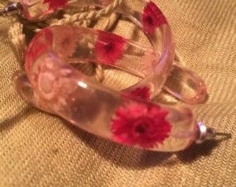 Clear flower hoops