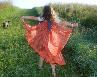 Butterfly/Fairy wings for Imaginative Play--made from a recycled sari from India