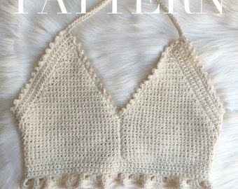The Athena Crochet Halter Crop Top PDF Pattern