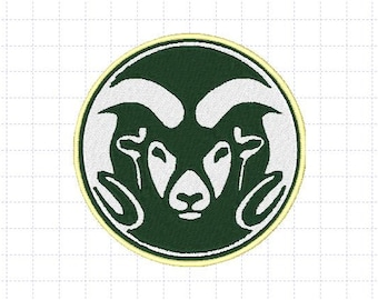 Colorado State Rams Embroidery Design, 4x4, Instant Download