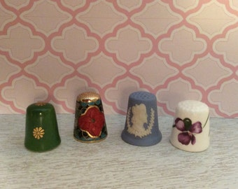 4 Collectable Thimbles