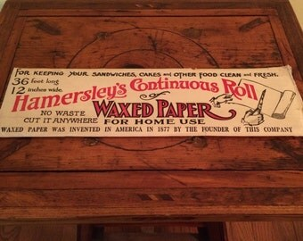 Vintage Hamersley's Continous Roll Waxed Paper