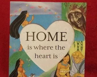 Pocahontas inspired photo frame