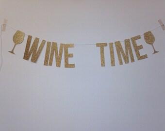 Wine Time (glitter banner)