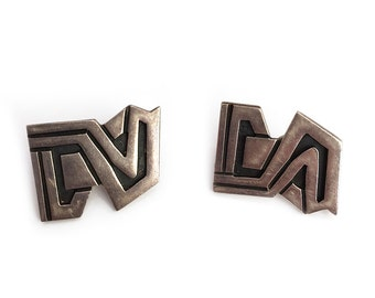 Vintage Mexican Sterling Silver Signed Ric Earrings c. 1960's