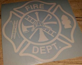 Fire Department Car/Truck Decal