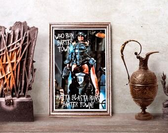 Mad Max Road Warrior Masta Blasta Poster