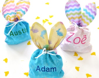Easter Bunny Bags (Custom Name Embroidery)