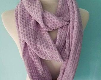 Scarves, Infinity Scarves, Knit Infinity Scarves, Purple Scarf Lightweight Summer Scarf, Lavender Scarf