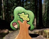 WALDORF Tree toy Waldorf nature table Infant Learning Toys Wooden Tree Toy Tree figurine Woodland set puzzle Handmade  Birthday gift