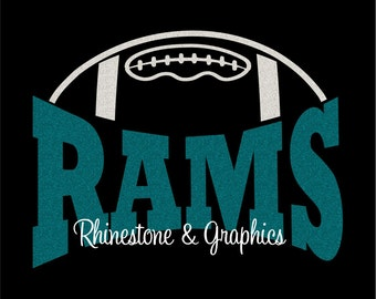 Rams Football Design Pattern Graphic Design Instant Download EPS SVG DXF  Cutting Files Cameo
