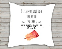 decorative pillow with inspirational quote, Birthday gift for teenager, gift for college students, back to college gift, throw pillow