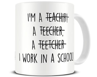 Teacher Spelling Mug - Teacher Mug - Teacher Gifts - Funny Teacher Gift Mug MG460