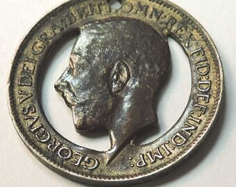 George V 1911 Cut-Out Farthing