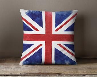 Union Jack Throw Pillow | Union Jack Decor | Union Jack Gift | Union Jack Pillow Cover | Union Jack Pillow Case | Union Jack PIllowcase