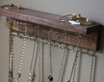 Rustic Jewelry Display - Jewelry Display - Rustic Jewelry Holder - Jewelry Organizer - Jewelry Storage - Rustic Wall Decor - Jewelry Shelf
