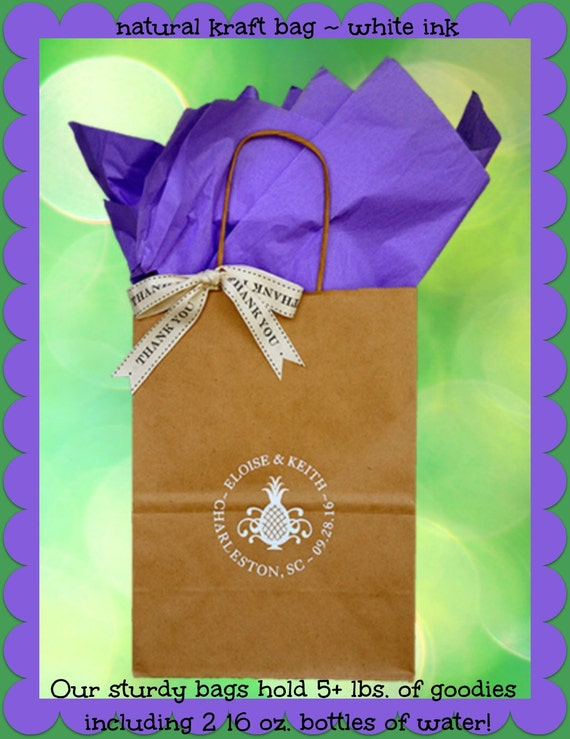 Bags Personalized Wedding Guest Gift Bags Welcome to our Wedding Bags ...