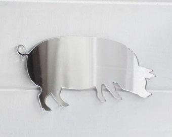 Farm Yard Pig Acrylic Mirror