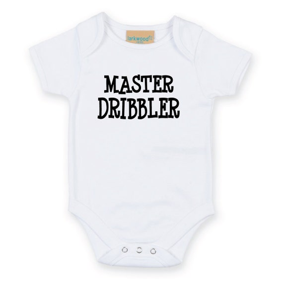 Master Dribbler Baby Grow Body Suit Baby Onesie Sleep Suit sleepwear baby shower funny slogan gift present new born mum to be gift
